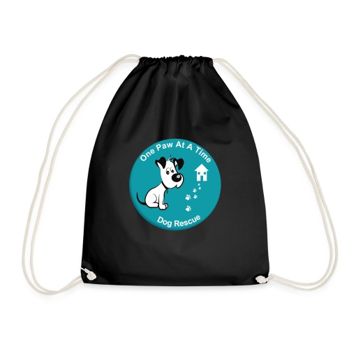 One Paw at a Time Logo - Drawstring Bag