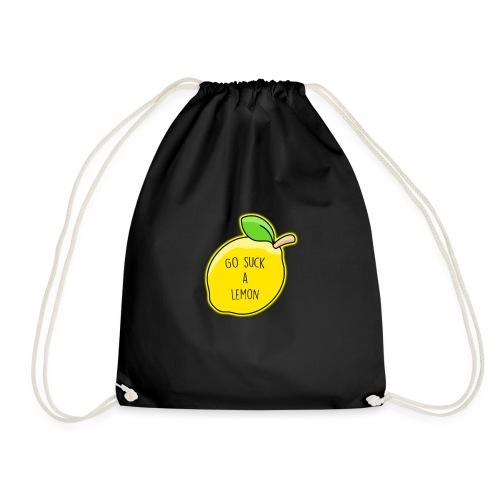 Go Suck A Lemon - Drawstring Bag