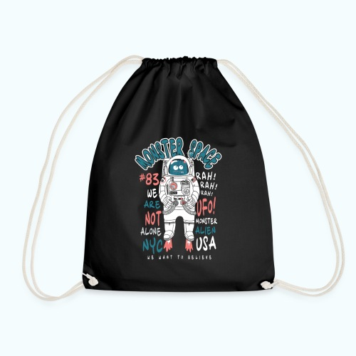Little Monster In Space 80s Retro - Drawstring Bag