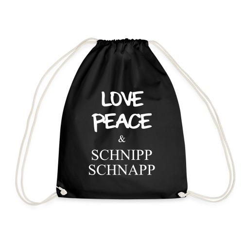 LOVE PEACE & SCHNIPP SCHNAPP - Turnbeutel