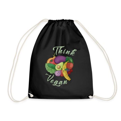 Think Vegan hell - Drawstring Bag