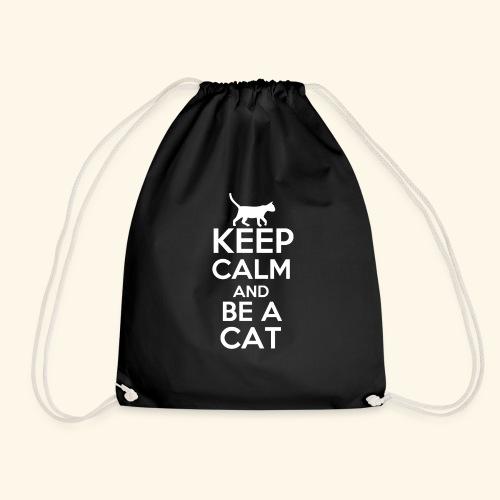 Keep Calm Katzen T-Shirt Englisch - Turnbeutel