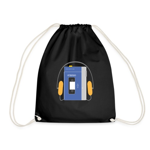 Stereo walkman in blue - Drawstring Bag