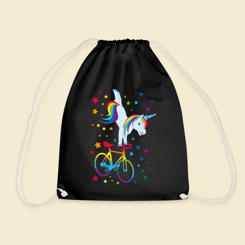 Kunstrad   Einhorn Handstand Regenbogen - Turnbeutel