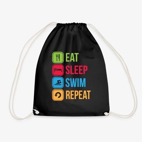 Eat Sleep Swim Repeat - Drawstring Bag