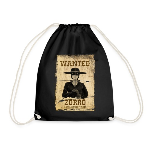 Zorro The Chronicles Western Plakat Wanted - Turnbeutel