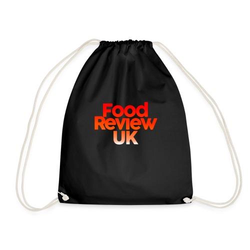 Food Review UK Logo Gradient | Red Orange White - Drawstring Bag