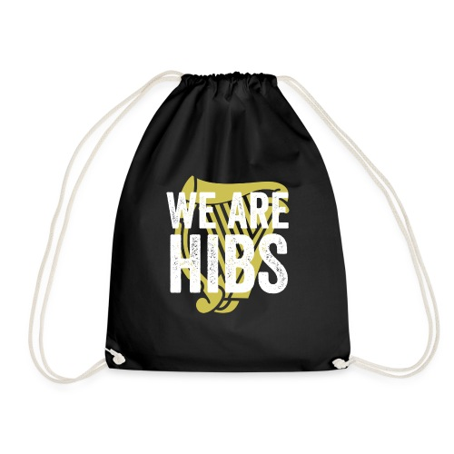 WEAREHIBS WhiteWithGoldHarp - Drawstring Bag