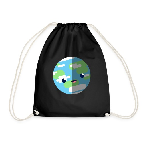 Cute Earth - Drawstring Bag