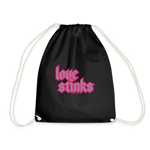 Love Stinks Lettering - Turnbeutel