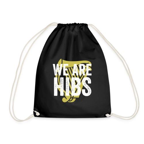 WEAREHIBS WhiteWithGoldHarp - Drawstring Bag