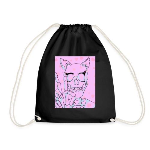 Kawaii Skull - Drawstring Bag