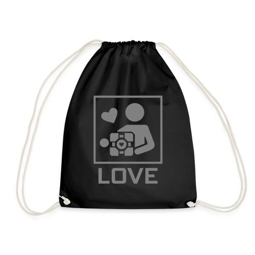 SPREADSHIRT_PORTAL_CUBE_LOVE - Sacca sportiva