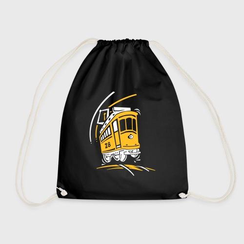 Tramway 28 cartoon Lisbonne - Sac de sport léger