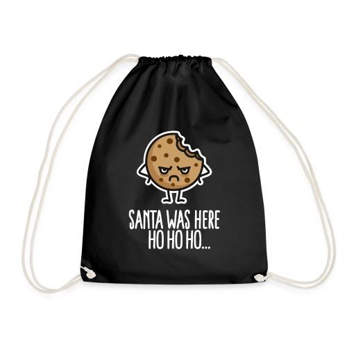 Santa, was here Ho ho ho funny Christmas Cookie - Drawstring Bag