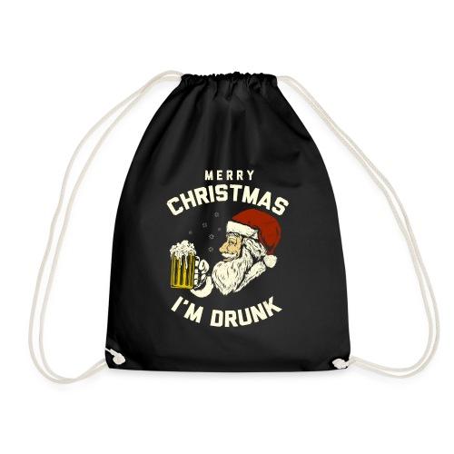 MERRY CHRISMAST I'm Drunk - Drawstring Bag