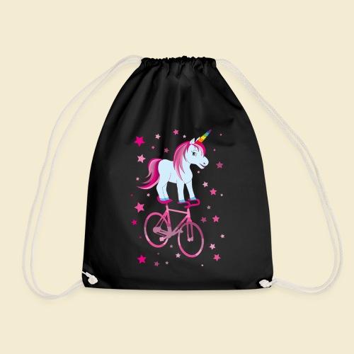 Kunstrad   Einhorn Pink - Turnbeutel
