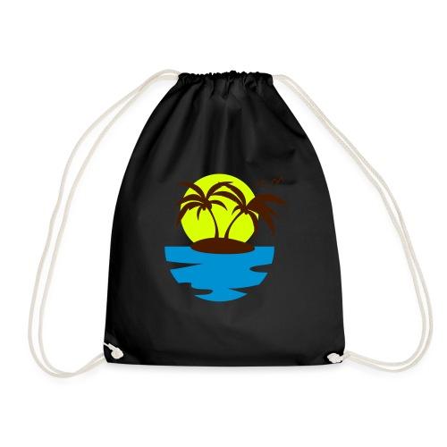 Island, Sun and Sea - Drawstring Bag