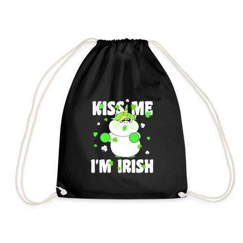 Kiss me I'm Irish Unicorn Einhorn - Turnbeutel