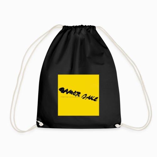 Gamer Jake black on gold logo shirt - Drawstring Bag