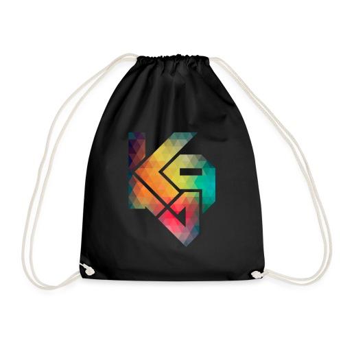 K94 logo rainbow - Drawstring Bag