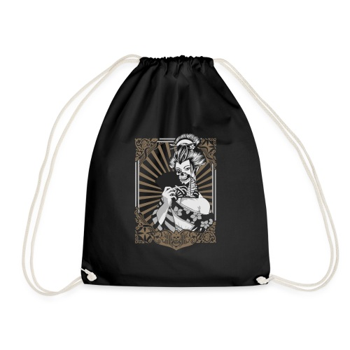 Zombie Geisha - Drawstring Bag