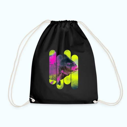Neon colors fish - Drawstring Bag