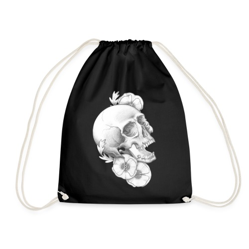 poppy skull - Turnbeutel