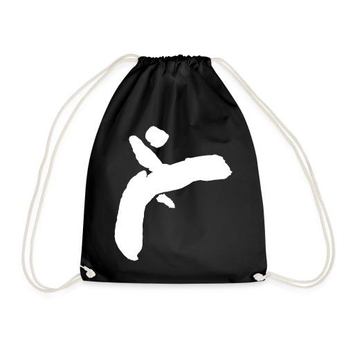 Martial Arts Kick - Slhouette Minimal Wushu Kungfu - Drawstring Bag