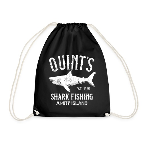 Quint's Shark Fishing Charters - Amity Island 1975 - Drawstring Bag