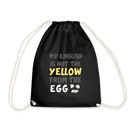 Das gelbe vom Ei Witz englisch - Turnbeutel