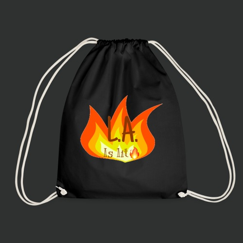 La is lit - Drawstring Bag