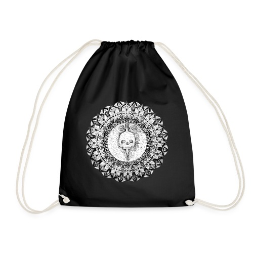 Mandala Skull - Mochila saco