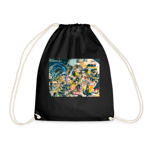 art graffiti abstract vintage - Mochila saco