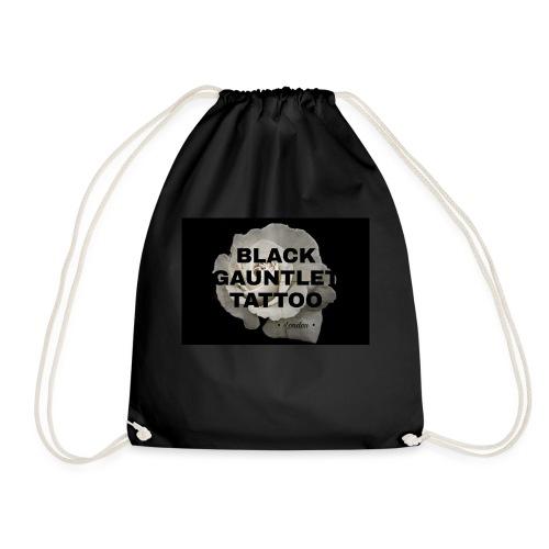 Black Gauntlet - White Rose - Drawstring Bag