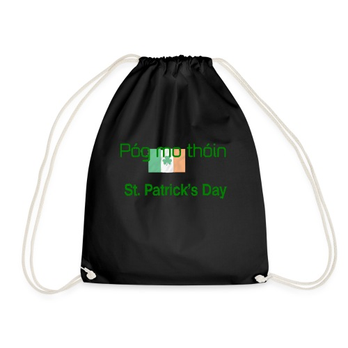 St Patricks day Pogmo Thoin - Kiss My Arse - Drawstring Bag