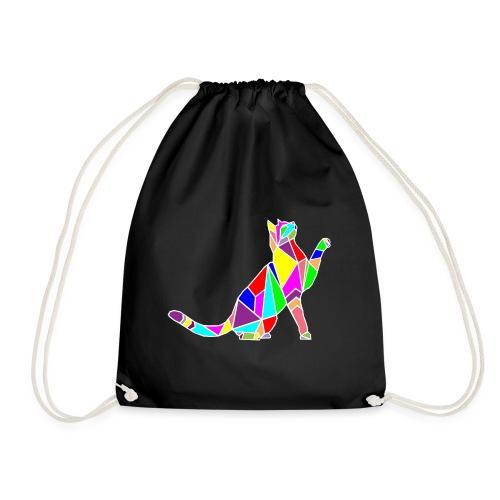 cat colors white pet animal art composicion - Sacca sportiva