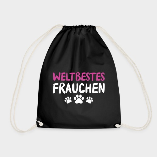 Weltbestes Frauchen Hundeliebe Hund - Turnbeutel