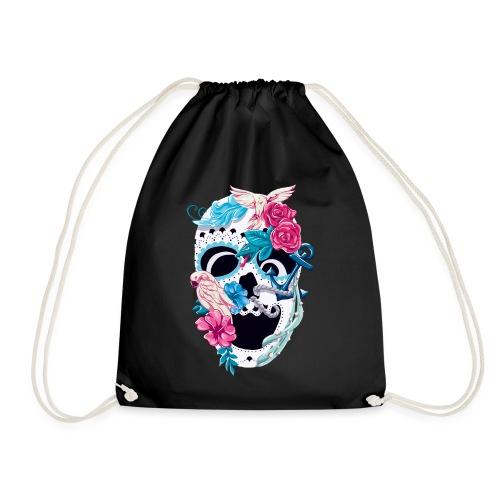 Floral Skull - Turnbeutel