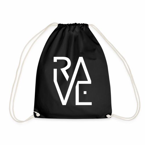 Rave Minimal Text Electronic Music Techno Schrift - Turnbeutel