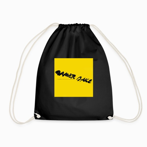 Gamer Jake black on gold logo shirt - Drawstring Bag