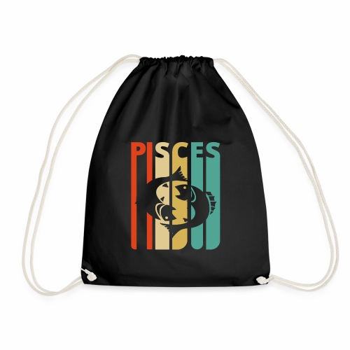 Vintage Pisces Zodiac Gifts for family & friends - Drawstring Bag
