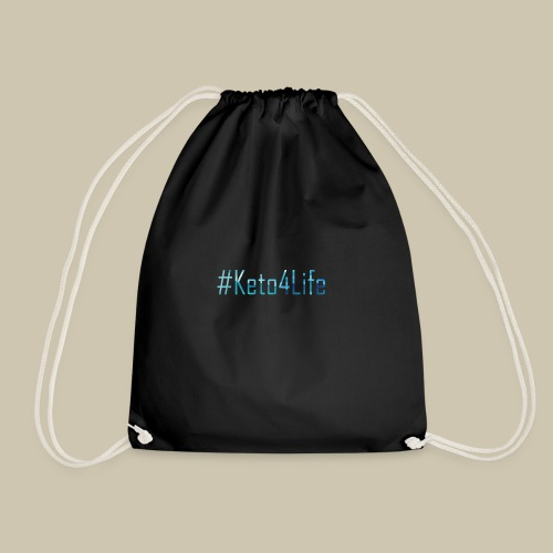 Keto For Life With No Background - Drawstring Bag