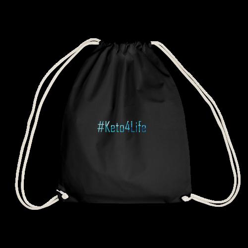 Keto For Life With No Background - Drawstring Bag