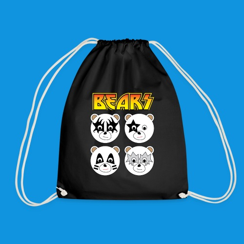 Kiss Bears square.png - Drawstring Bag