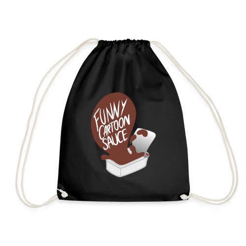 FUNNY CARTOON SAUCE - FEMALE - Drawstring Bag
