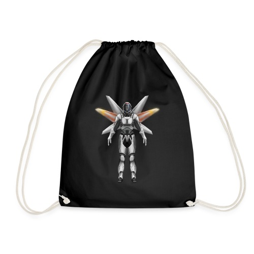 Robot with wings - Drawstring Bag