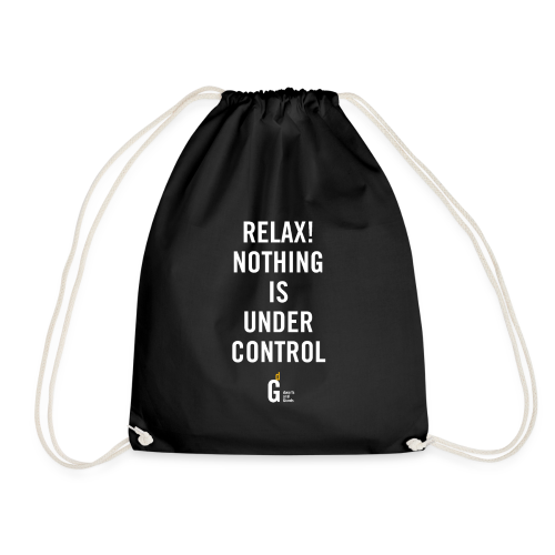 RELAX Nothing is under control III white yellow - Drawstring Bag