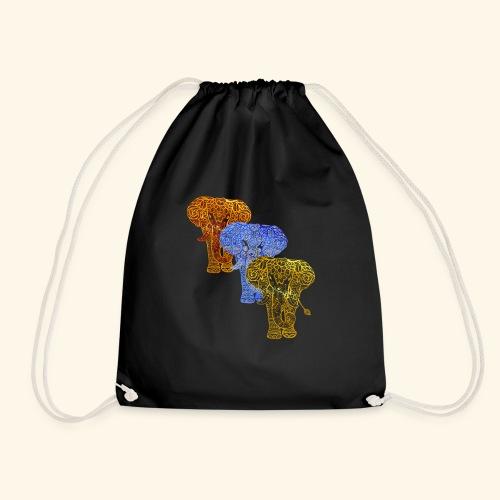 Henna Elephant Mehndi - Drawstring Bag