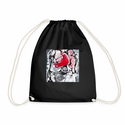 LiD, Winter Collection 2017-18, Focus in Red - Drawstring Bag